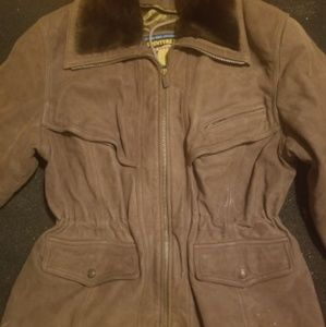 Women's Large brown leather jacket